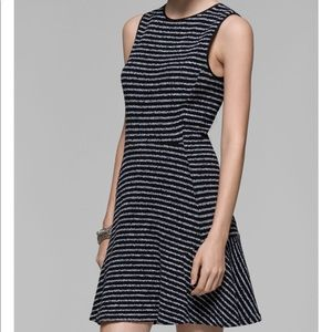 Theory Nikay Striped Flare Dress
